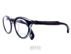 Lunettes de soleil pour homme Blake Kuwahara Corbu noire. Lunettes optique en acétate noir et crisyal. Les lunettes Blake Kuwahara sont la combinaison parfaite de l'expérimentation et une innovation audacieuse.