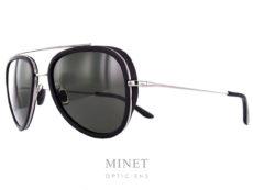 Vuarnet Edge Pilote VL1614 . Mélange entre lunettes sport et lunettes élégantes, de forme vintage pilote. Chic par le métal et sport grâce aux coques. La monture est de couleur chrome et les verres, 100% UV sont gris.