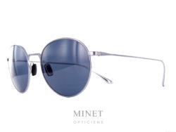 Vuarnet Swing Ronde VL1610. Lunettes de soleil, en titane, très fine et légères de forme pantos. Les verres bleus exclusifs Vuarnet 100% UV sont fabriqué en France.