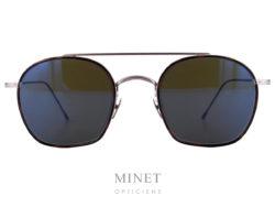 Les lunettes Edwardson Solaires Lord sont de superbe lunettes de soleil, de forme vintage, en métal, finement ciselé à l'ancienne, munie de verres gris-vert vintage 100% UV. Elles vous apporteront un confort de vision et une protection optimale.