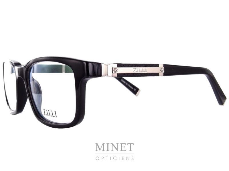 Marque de luxe incontesté Zilli lance sa première collection de lunettes. Les Zilli 60004 c03 sont faites avec le même savoir faire et le même taux d'exigences que les vêtements de la marque. Grandes lunettes pour homme en acétate de cellulose noire. Les branches sont griffée du logo Zilli en métal argenté et recouvertes de cuir. Matériaux d'exception qui a fait la renommée de Zilli Maison familiale française fondée à Lyon en 1965, Zilli est reconnue comme référence par les esthètes amateurs de produits rares et de qualité. La nouvelle collection eyewear présente les codes de l'élégance sophistiquée qui caractérisent depuis toujours le style exclusif de la Maison Zilli, associés aux technologies d'avant-garde et aux matériaux hautement sélectionnés avec des détails signatures comme le titane ou le cuir.