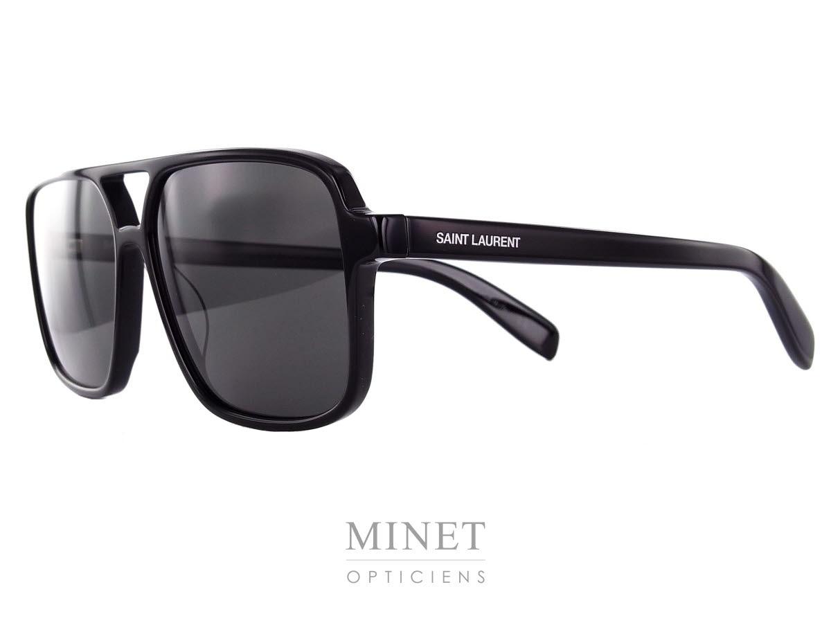ea1685f10bed3d Les Saint Laurent SL 176 sont de grandes lunettes de soleil pour homme et  de forme
