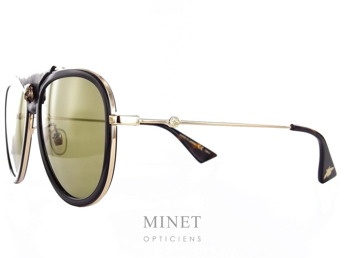 fa9f4328ee609f Les solaires Gucci GG 62 sont de superbe pilotes munie de verres catégorie 2  et décorées