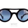 Petites lunettes rondes noires double pont et super stylées, telle sont les Moncler ML0014.