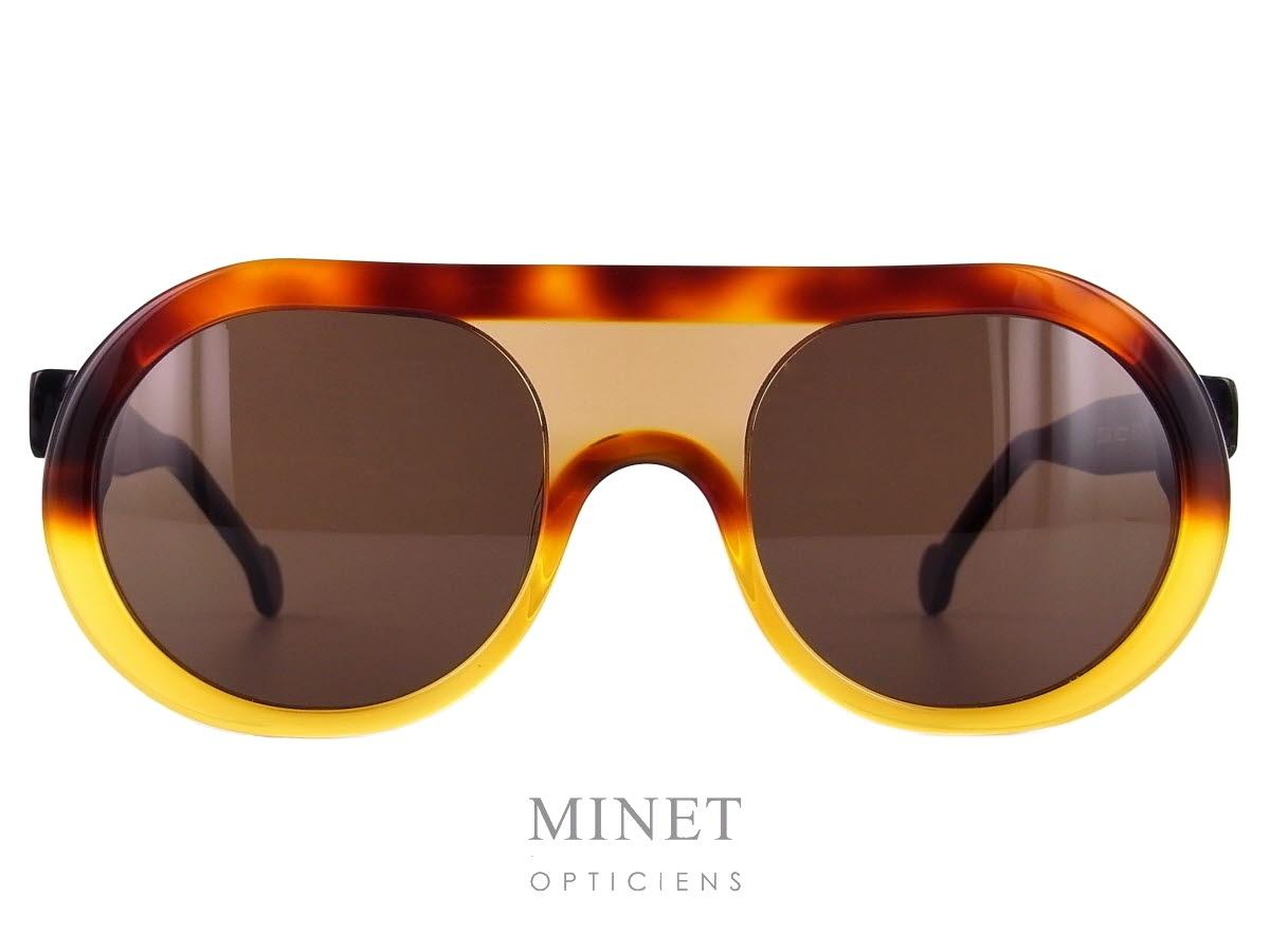 b45e5186206dd4 Les Henau Doga sont de très belles lunettes de soleil de couleur écaille  demi-blonde