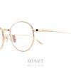 Les Lunor M9 06 sont des lunettes optique en titane de forme rondes. Il en existe plusieurs couleurs, celle ci est de couleur or.