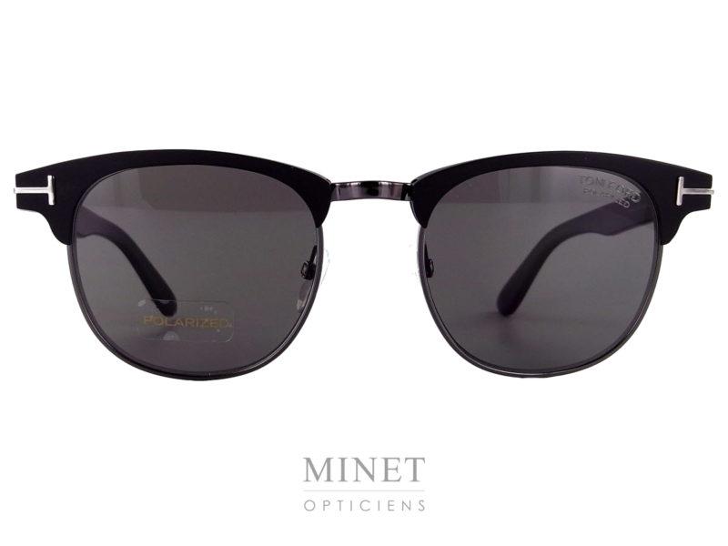 """Lunettes solaires pour hommes, les Tom Ford Laurent sont des solaires vintage de type """"ClubMaster"""" revisitées dans le style et la qualité Tom Ford."""