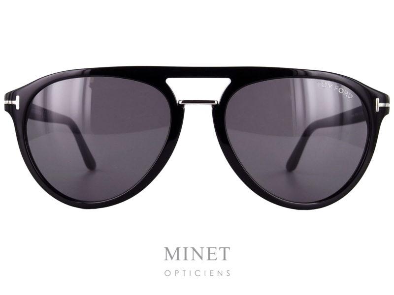 Tom Ford Burton. Lunettes de soleil pour hommes, vintage, double pont. La particularité de ses lunettes vient de son deuxième pont en métal lui donnant un style original.
