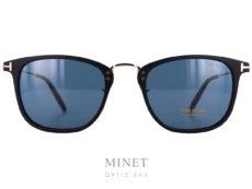 Très belles lunettes de soleil pour hommes. Les Tom Ford Beau TF672 sont des solaires combinées ayant une face en acétate, des branches et un pont en métal.