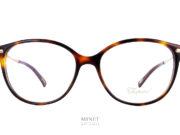 Chopard VCH216. très belles lunettes luxueuses pour dames. La forme est assez classique avec sa face en imitation écaille de tortue et ses branches brillantes décorées tel un bijoux des grands soirs. Vous aurez une paire de lunettes très harmonieuse, élégante et chic.