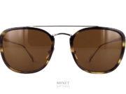Lunettes de soleil pour hommes, les Chopard SCHD60 sont de très belles lunettes solaires combinées titane et cellulo. de forme rectangulaire et de style vintage. C'est LA lunettes luxe Classique.