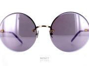 Pomellato PM60S. Lunettes de soleil ronde très légères. Collection du fameux bijoutier italien haut de gamme, les lunettes Pomellato sont, comme leurs bijoux, belles, originales et très élégante.