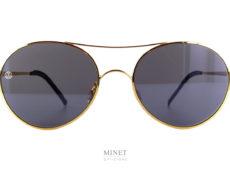 Les solaires 8000 8M1 gold sont de très belles lunettes en métal. L'esprit vintage de la monture est accentué par la monte de verres plats. Ces verres ulta-plat reflètent la lumière de façon à faire croire qu'ils sont dotés d'un traitement miroir. Les embouts sont, quand à eux, en cuir véritable. Ces embouts en cuir, garantissent un confort inégalé.
