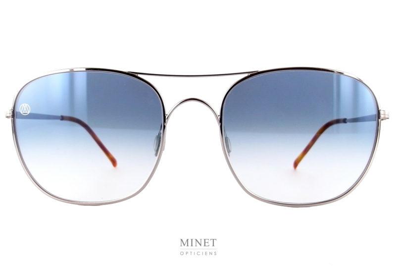 es solaires 8000 8M2. Lunettes de soleil exclusives pour hommes. Les verres sont dégradés. La face de style pilote double ponts rectangulaire.