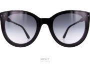 """Nouvelles Bottega Veneta BV 165S. Superbes lunettes de soleil pour dames. Ces lunettes sont de grandes solaires papillonnantes. Les verres solaires, 100% UV dégradés gris, recouvrent toute la monture. Comme si la monture était cachée par les verres. Ce qui donne un effet """"masque"""" aux lunettes."""