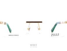 Lunettes sans montures, les verres sont invisibles. Et comme il n'y a pas de monture, on peut leur donner la forme et la taille que l'on veut. Les branches et le pont de la Zilli 60034 sont doublés or. Et les branches sont incrustées de cuir. Car ce n'est qu'avec les plus beaux cuir que Zilli a fait sa renommé.