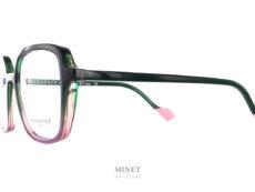 Grande lunettes rectangulaire pour dames, les Face à Face Norma 3 Vertes ont un look vintage et de belles couleurs, un cocktail détonnant pour une superbe monture de créateurs.