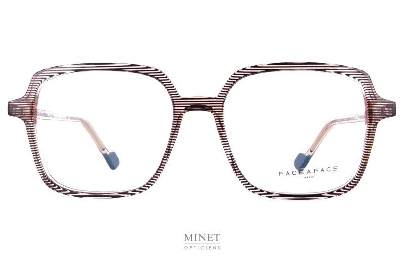 Face à Face Norma 3. Grande lunettes rectangulaire pour dames. Look vintage couleurs actuelles, un cocktail détonnant pour une superbe monture de créateurs.