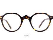 Lesca P21. Monture optique en acétate de cellulose. La forme rétro n'est pas sans rappeler les lunettes du début du 20ème siècle. Ce sont des montures fabriquée a l'ancienne ayant une finition luxueuse.
