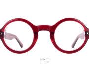 Lunettes ronde, épaisses en acétate de style rétro. Les Lesca Burt rouges sont de petites montures rondes a forte personnalité.