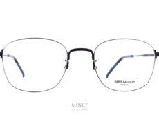 Monture ultra fine, tellement fine que c'est la monture qui est sertie dans le verre et non l'inverse. Les Saint Laurent SL395K sont de très belles lunettes optiques pour les hommes qui aiment avoir des montures élégantes, légères et discrètes.