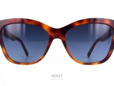 """Dior 30 Montaigne Mini BI. Lunettes de soleil de luxe pour dames. En écaille et de forme """"cat eyes"""" elles vous offriront une excellente protection, grâce a ses verres 100% UV, et un look très chic grâce a son style intemporel."""