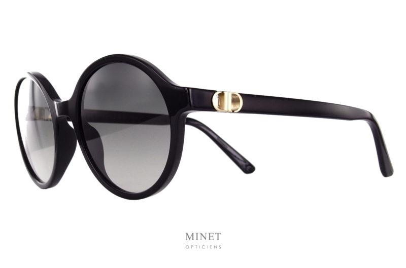Christian Dior 30 Montaigne MiniO RI. Lunettes solaires rondes en acétate de cellulose. Le style est présent, la forme est très sympa et les verres dégradés gris vous offriront une très bonne protection tout en restant élégante.