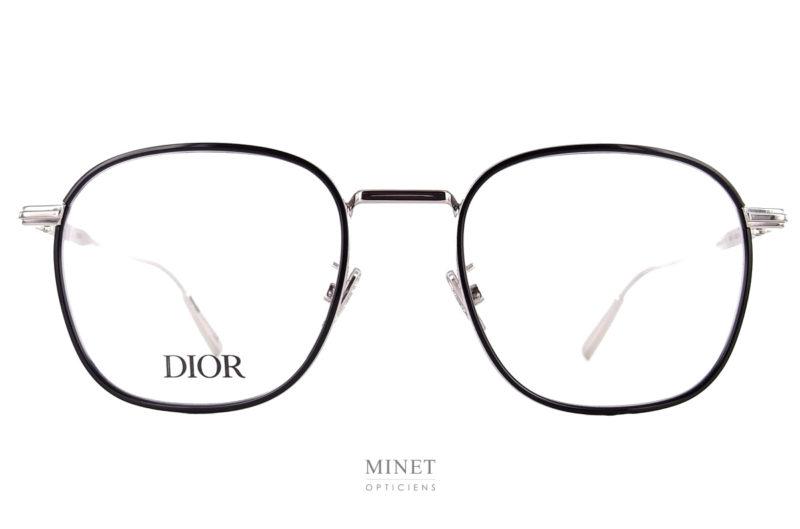 Christian Dior Black Suit O SU2. Lunettes fines en métal. les cerclages sont rehaussés d'un insert en acétate donnant peu plus de présence au modèle.