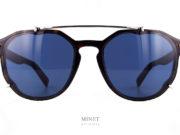 Christian Dior Black Suit RI. Lunettes de soleil de luxe pour hommes. Monture en imitation écailles de tortue montée de verres bleus avec des petits inserts en métal qui font comme si il y avait un clip solaire. C'est fun et stylé.