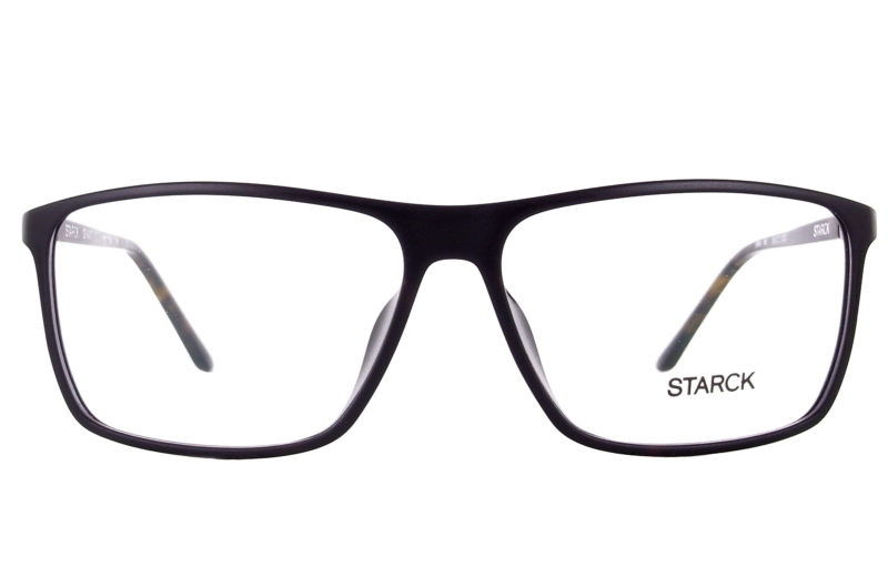 """Voici, enfin, les nouvelles lunettes Starck. Toujours dessinées de lignes pures. Le design épuré est et restera toujours la marque de fabrique de Philippe Starck. Et donc, les Starck 373 ne dérogent pas à la règle. Construites en """"Gravity"""", matériaux exclusif au montures de la marque. les charnières sont toujours conçues et inspirées par l'articulation de l'épaule. Ce qui permet aux branches de bouger dans les 3 dimensions, acceptant énormément de contraintes et donnant une grande solidité à l'ensemble."""