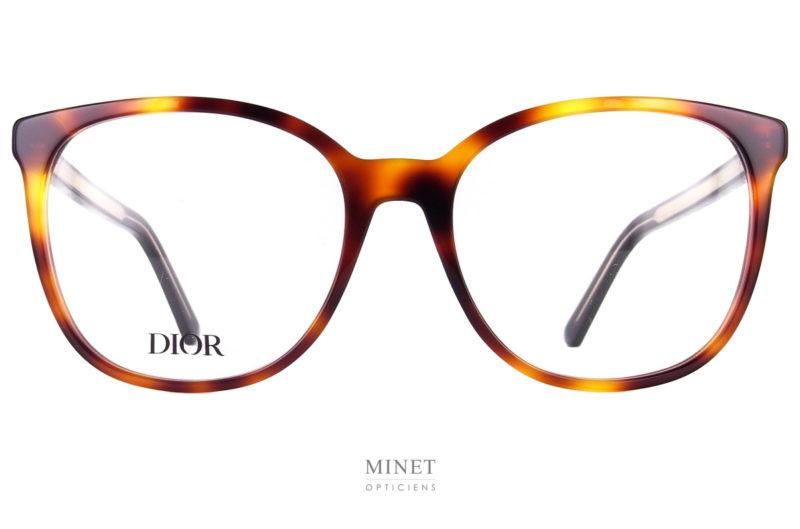 Montures optiques Christian Dior SpiritO SI. Grande lunettes optiques pour dames en acétate. De forme glamour et oversized.
