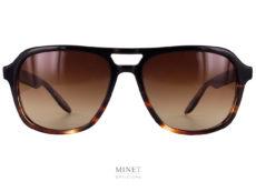 Les Barton Perreira Modernist. Très belles lunettes de soleil de style aviateur vintage . Monture en acétate de cellulose montée de verres bruns 100% anti UV.
