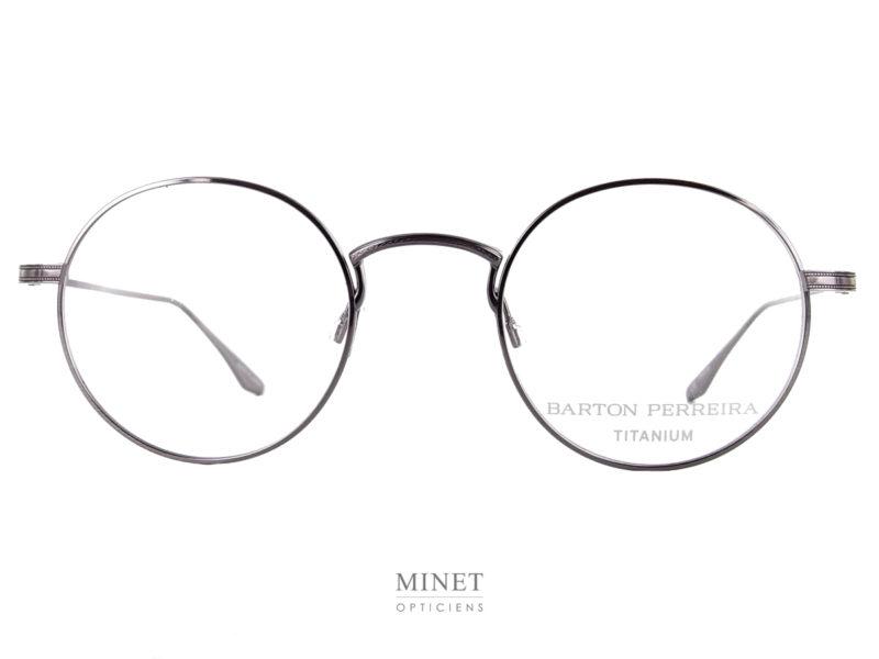 Lunettes Barton Perreira Savant. Petite lunettes ronde en pure titane. Style rétro, très fines, très discrètes et donc très confortables.