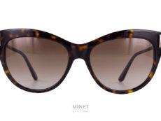 Solaires de luxeTom Ford Kira. Lunettes de soleil pour dames de forme papillon. Ces solaires vous offriront une protection optimale grâce a leurs verres 100% anti UV.