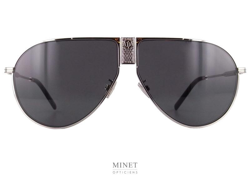 Solaires Dior Diorice. Grandes lunettes de soleil pilote pour hommes. Les strass sur le pont rajoutent un certain côté bling bling.