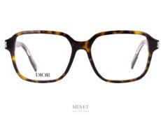 Lunettes Dior NeoDior S2I. Très belles lunettes optiques pour hommes de couleur écaille de tortue et de forme rectangulaire.