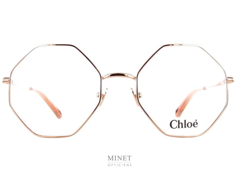 Les Chloé CH0022O sont de belles lunettes pour dames. La montures fine en métal de forme octogonale est très légère et robuste.
