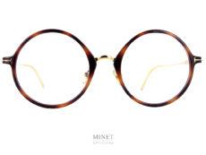 Grandes lunettes super rondes, Les Tom Ford 5703-B sont de très belles lunettes optiques pour dames. Leur grandes formes ronde leurs donnent un côté oversized très actuel.