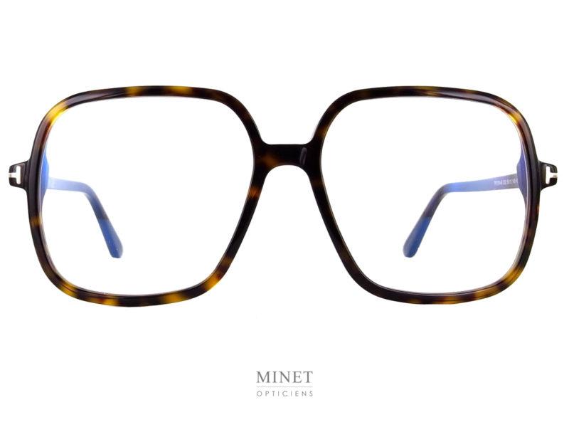 Grandes lunettes carrées. Les Tom Ford TF5764-B sont de superbes montures oversized. Qui vous apporteront un super look délicieusement vintage et super actuel à la fois.