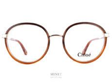 Montures combinées acétate et métal. Les Chloé Ch0033O sont de très belles montures optiques pour dames. Pas trop épaisses mais ne manquant pas de caractère.